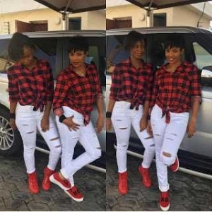 38yr old Actress Iyabo Ojo and 15yr old Daughter step out twinning in Matching Outfit